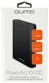 Портативный аккумулятор (Power Bank) Qumo PowerAid 10400, 10400 мА-ч, 2 USB 1A+2A (2.1А сумм), вход до 1.5А, черный