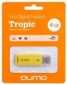 Флеш диск  4Gb Qumo Tropic Yellow