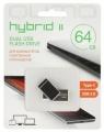 Флеш диск 64Gb Qumo Hybrid II OTG USB-3.0/Type-C