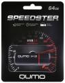 Флеш диск 64Gb Qumo Speedster Black USB-3.0