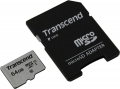 Карта памяти microSDHC 64Gb Transcend Class 10 UHS-1 U1 + SD адаптер (TS64GUSD300S-A)