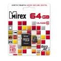 Карта памяти microSDXC 64Gb Mirex Сlass 10 UHS-I + SD adapter( 13613-AD10SD64)