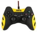 Игровой геймпад Dialog GP-A21 Gan-Kata - вибрация, 12 кнопок, PC USB/PS3 черный