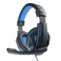 """Гарнитура Gembird MHS-G215, код """"Printbar"""",черный/синий, регулировка громкости, кабель2м"""