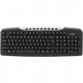 Клавиатура CBR KB 300M black/silver USB 107кн.+9 доп.