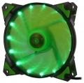 Вентилятор для корпуса Crown CMCF-12025S-1222 120x120x25мм зеленый, 1500 об/мин;35CFM;20Дб;Подшипник скольжения;3pin+MOLEX(папа-мама)
