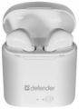 Гарнитура Defender Twins 630 белый,TWS, Bluetooth (63630)