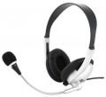 Гарнитура Gembird MHS-615 серебряный/черный,регулятор громкости