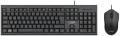 Комплект клавиатура + мышь CBR KB SET 711 black USB, проводной