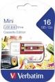 Флеш диск 16Gb Verbatim Mini Cassette Edition Red (49398)