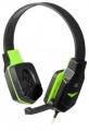 Гарнитура Defender G-320 Warhead черный/зеленый, кабель 1.8м (64032)