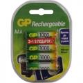 Аккумулятор GP R03 (ААА)1000mAh (4шт) 100AAAHC3/1