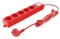 Сетевой фильтр PowerCube SPG-MXTR-14 3 метра, 5 розеток, красный