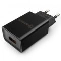Адаптер питания сетевой Gembird MP3A-PC-17 100/220V - 5/9/12V 1 USB порт, черный