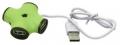 Разветвитель 4*USB2.0 CBR CH-100 Green