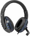 Гарнитура Defender G-160 черный/синий игровая, кабель 2.5м (64118)