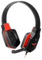 Гарнитура Defender G-320 Warhead черный/красный, кабель 1.8м (64033)