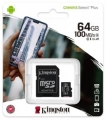 Карта памяти microSDXC 64Gb Kingston Class 10 UHS-I U1 Canvas Select Plus (SD адаптер) 100MB/s