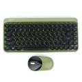 Комплект клавиатура + мышь Gembird KBS-9001 зеленый, беспроводная 2.4ГГц,78 кл., 1000 DPI, бат.в компл.