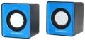 Колонки Гарнизон GSP-100, синий/черный, 2 Вт, USB-питание