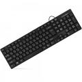 Клавиатура Crown CMK-479 black USB 102 клавиши, дренаж, отделка под карбон