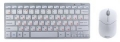 Комплект клавиатура + мышь беспроводная Gembird KBS-7001 серебр/бел USB 1000dpi, FN