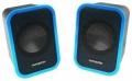 Колонки Гарнизон GSP-110, синий/черный, 6 Вт, материал- пластик, USB - питание