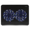 """Подставка для ноутбука Crown CMLC-1101 black 15,6"""", 5 кулеров, подсветка синяя, регулировка скорости вращения"""