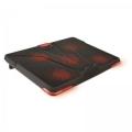 "Подставка для ноутбука Crown CMLS-130 19"" красная led подсветка, регулятор скорости, 3 уровня наклона"