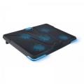 "Подставка для ноутбука Crown CMLS-131 19"" синяя led подсветка, регулятор скорости, 3 уровня наклона"