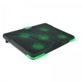 "Подставка для ноутбука Crown CMLS-132 19"" зеленая led подсветка, регулятор скорости, 3 уровня наклона"
