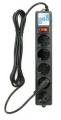 Сетевой фильтр PowerCube SPG-B-15-BLACK 5 метров, 5 евророзеток