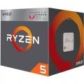 Процессор AM4 AMD Ryzen 5 2400G Raven Ridge (X4 3.9GHz/6Mb/Vega 8/65W) BOX