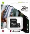 Карта памяти microSDHC 32GB Kingston microSDHC Class 10 UHS-I U1 Canvas Select Plus (SD адаптер) 100MB/s (SDCS2/32GB)