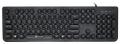 Клавиатура Oklick 400MR USB черный slim Multimedia