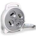 """Разветвитель  4*USB2.0 Konoos UK-10 """"Рулетка"""""""