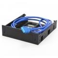 """Панель лицевая CROWN CMU3-B5 в 3.5"""" отсек корпуса 5.25 ПК, 2*USB-3.0 + корзина на устройство 1*3.5/2.5 (пластик, коннектор 19pin, кабель 0,8м)"""