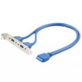 Планка в сист блок Cablexpert 2xUSB 3.0/20pin мат.платы CC-USB3-RECEPTACLE