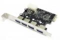 Контроллер PCI-E 1x на 4 USB 3.0 VIA VL805