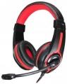 Гарнитура Oklick HS-L200 черный/красный, 2м, (Y-819)