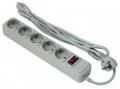 Сетевой фильтр ExeGate SP-5-1.5G 5 розеток, 1.5м, евровилка, серый