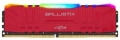 Модуль памяти DDR4 8Gb 3200MHz Crucial Ballistix Red RGB (BL8G32C16U4RL) RTL