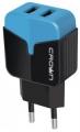 Адаптер питания сетевой Crown CMWC-3042 черный/синий