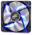 Вентилятор для корпуса DeepCool Wind Blade blue 120x120x25мм (пит. от мат.платы и БП, полупрозрачный, синяя подсветка) 1300об/мин