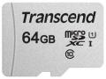 Карта памяти microSDXC 64Gb Transcend Class 10 UHS-1 U1 (TS64GUSD300S)